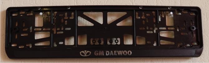 Антивандальная рамка на государственный номер - DAEWOO