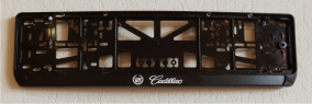 Антивандальная рамка на государственный номер - Cadillac авторамка