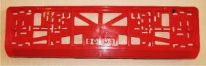 Антивандальная рамка на государственный номер - красная рамка на номер