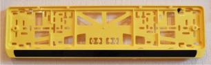 Антивандальная рамка на государственный номер - Желтая рамка номерного знака